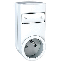 Mobile socket-outlet dimmer, french type, White
