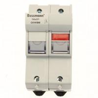 Fuse-holder, LV, 50 A, AC 690 V, 14 x 51 mm, 1P+N, IEC
