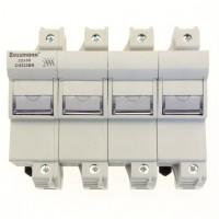 Fuse-holder, LV, 125 A, AC 690 V, 22 x 58 mm, 3P+N, IEC