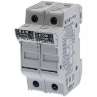 Fuse-holder, LV, 30 A, AC 600 V, 10 x 38 mm, CC, 2P, UL, DIN rail mount