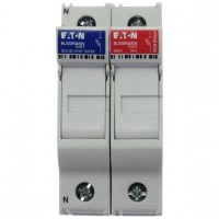 Fuse-holder, LV, 32 A, AC 690 V, 10 x 38 mm, 1P+N, UL, IEC, DIN rail mount