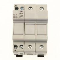 Fuse-holder, LV, 32 A, AC 690 V, 10 x 38 mm, UL, IEC, DIN rail mount