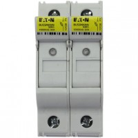 Fuse-holder, LV, 32 A, DC 1000 V, 10 x 38 mm, gPV, 2P, UL, IEC, indicating, DIN rail mount