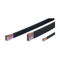 Insulated flexible busbar, meters red copper, 10 x 120 x 1 , 1600 A