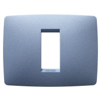 Cover Plate Chorus ONE IT, Painted Technopolymer Pastel Colours, Sea Blue, 1 module, Horizontal