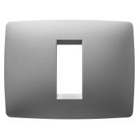 Cover Plate Chorus ONE IT, Technopolymer, Titanium, 1 module, Horizontal
