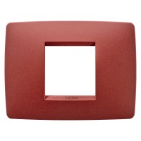 Cover Plate Chorus ONE IT, Painted Technopolymer Pastel Colours, Ruby, 2 modules, Horizontal