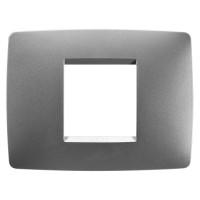 Cover Plate Chorus ONE IT, Technopolymer, Titanium, 2 modules, Horizontal