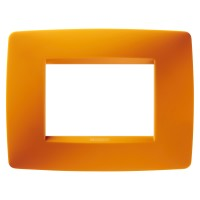 Cover Plate Chorus ONE IT, Technopolymer, Opal Orange, 3 modules, Horizontal