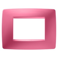 Cover Plate Chorus ONE IT, Technopolymer, Sapphire Pink, 3 modules, Horizontal