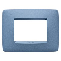 Cover Plate Chorus ONE IT, Painted Technopolymer Pastel Colours, Sea Blue, 3 modules, Horizontal