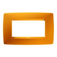 Cover Plate Chorus ONE IT, Technopolymer, Opal Orange, 4 modules, Horizontal