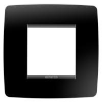 Cover Plate Chorus ONE INTERNATIONAL, Technopolymer, Toner Black, 2 modules, Horizontal, Vertical