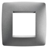 Cover Plate Chorus ONE INTERNATIONAL, Painted Technopolumer, Titanium, 2 modules, Horizontal, Vertical
