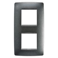 Cover Plate Chorus ONE INTERNATIONAL, Painted Technopolumer, Slate, 2+2 modules, Vertical