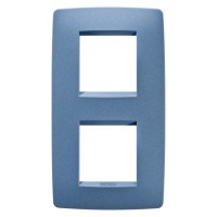 Cover Plate Chorus ONE INTERNATIONAL, Painted Technopolumer Pastel Colours, Sea Blue, 2+2 modules, Vertical