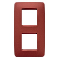 Cover Plate Chorus ONE INTERNATIONAL, Painted Technopolumer Pastel Colours, Ruby, 2+2 modules, Vertical