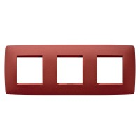 Cover Plate Chorus ONE INTERNATIONAL, Painted Technopolumer Pastel Colours, Ruby, 2+2+2 modules, Horizontal