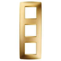 Cover Plate Chorus ONE INTERNATIONAL, Metallised Technopolymer, Gold, 2+2+2 modules, Vertical