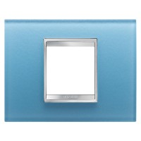 Cover Plate Chorus LUX IT, Glass, Aquamarine, 2 modules, Horizontal