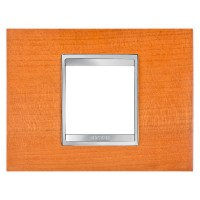 Cover Plate Chorus LUX IT, Wood, Cherry, 2 modules, Horizontal
