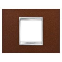 Cover Plate Chorus LUX IT, Metal, Oxidised Finish, 2 modules, Horizontal