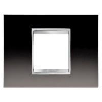 Cover Plate Chorus LUX IT, Metal, Gunbarrel Grey, 2 modules, Horizontal