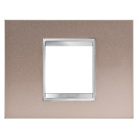 Cover Plate Chorus LUX IT, Metal, Pearly Bronze, 2 modules, Horizontal