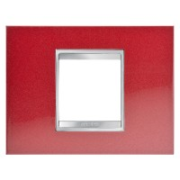 Cover Plate Chorus LUX IT, Metal, Glamour Red, 2 modules, Horizontal