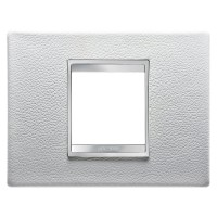 Cover Plate Chorus LUX IT, Leather, White, 2 modules, Horizontal