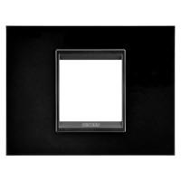 Cover Plate Chorus LUX IT, Monochrome Metal, Monochrome Black, 2 modules, Horizontal