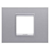 Cover Plate Chorus LUX IT, Monochrome Metal, Monochrome Titanium, 2 modules, Horizontal