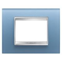 Cover Plate Chorus LUX IT, Glass, Aquamarine, 3 modules, Horizontal