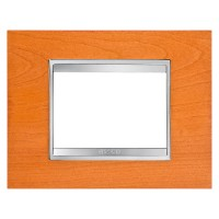 Cover Plate Chorus LUX IT, Wood, Cherry, 3 modules, Horizontal