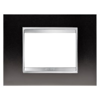 Cover Plate Chorus LUX IT, Metal, Gunbarrel Grey, 3 modules, Horizontal