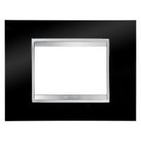 Cover Plate Chorus LUX IT, Technopolymer, Toner Black, 3 modules, Horizontal
