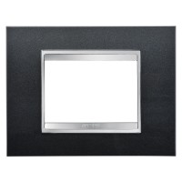 Cover Plate Chorus LUX IT, Technopolymer, Slate, 3 modules, Horizontal