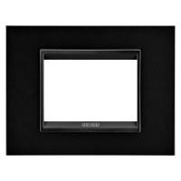 Cover Plate Chorus LUX IT, Monochrome Metal, Monochrome Black, 3 modules, Horizontal