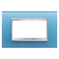 Cover Plate Chorus LUX IT, Glass, Aquamarine, 4 modules, Horizontal