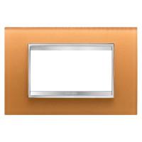 Cover Plate Chorus LUX IT, Glass, Ochre, 6 modules, Horizontal