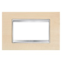 Cover Plate Chorus LUX IT, Wood, Maple, 4 modules, Horizontal
