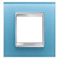 Cover Plate Chorus LUX INTERNATIONAL, Glass, Aquamarine, 2 modules, Horizontal, Vertical