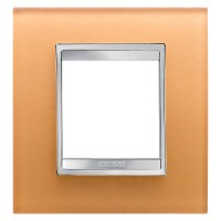 Cover Plate Chorus LUX INTERNATIONAL, Glass, Ochre, 2 modules, Horizontal, Vertical