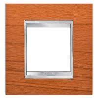 Cover Plate Chorus LUX INTERNATIONAL, Technopolymer Wood Finish, Cherry, 2 modules, Horizontal, Vertical