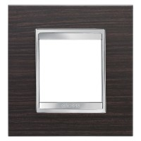 Cover Plate Chorus LUX INTERNATIONAL, Technopolymer Wood Finish, Wenge, 2 modules, Horizontal, Vertical
