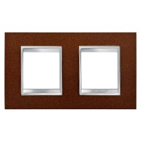 Cover Plate Chorus LUX INTERNATIONAL, Metal , Oxidised Finish, 2+2 modules, Horizontal