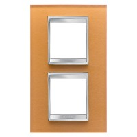 Cover Plate Chorus LUX INTERNATIONAL, Glass, Ochre, 2+2 modules, Vertical