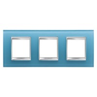 Cover Plate Chorus LUX INTERNATIONAL, Glass, Aquamarine, 2+2+2 modules, Horizontal