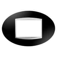 Cover Plate Chorus ART IT, Technopolymer, Toner Black, 3 modules, Horizontal