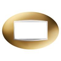Cover Plate Chorus ART IT, Metallised Technopolymer, Gold, 4 modules, Horizontal